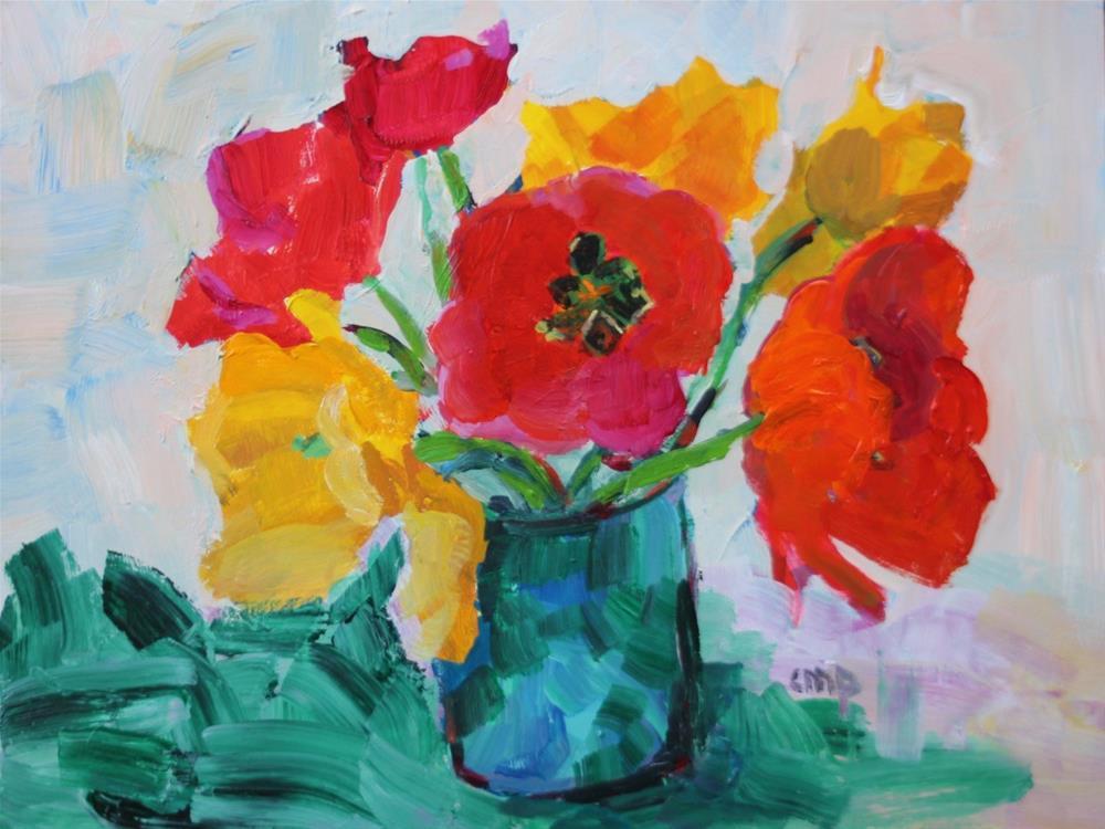 """Tulip Still Life"" original fine art by Christine Parker"