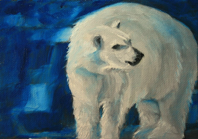 """Blue Ice"" original fine art by Jean Nelson"