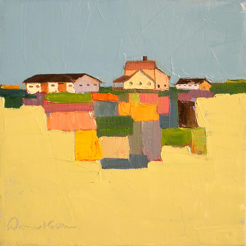"""Quilted Land II"" original fine art by Donna Walker"