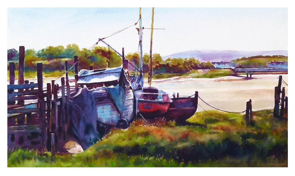 """Old boats."" original fine art by Graham Berry"