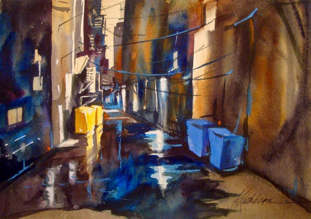 """Post Cards from Chicago - Alley Shapes"" original fine art by Kathy Los-Rathburn"