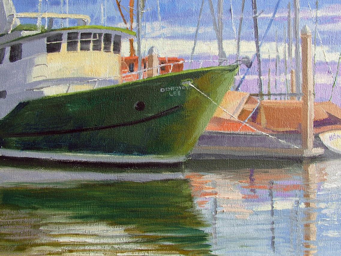 """Kemah Marina"" original fine art by Nancy Paris Pruden"