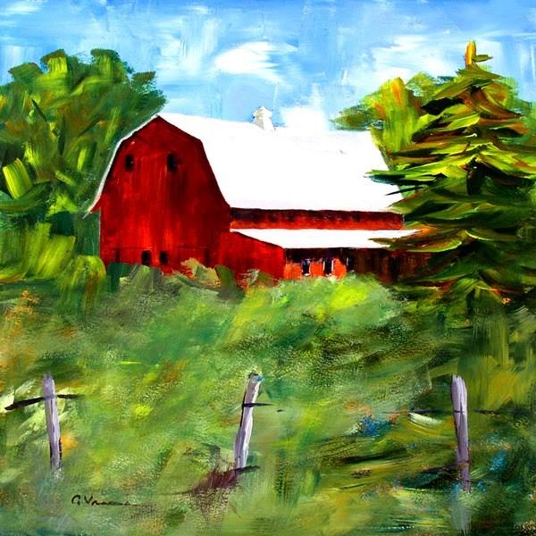 """""""Barn #24"""" original fine art by Anna Vreman"""