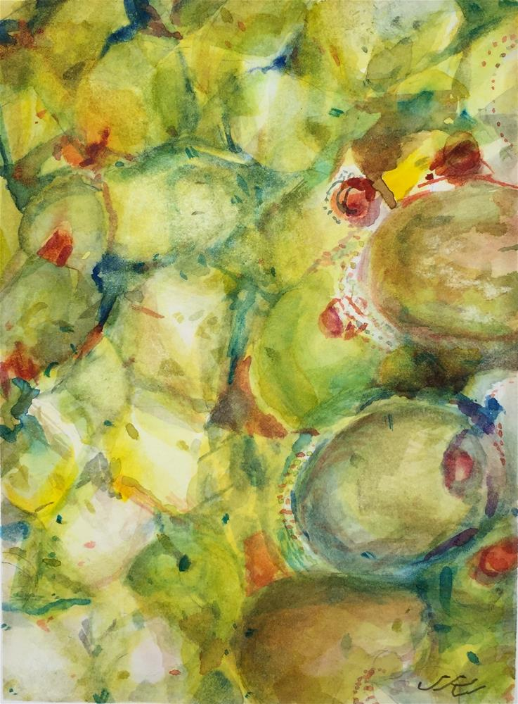 """Feta and Olive Salad"" original fine art by Jean Krueger"
