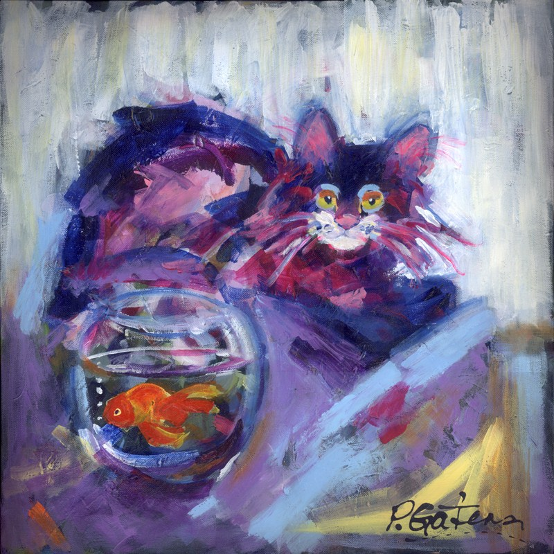 """Go! Fish"" original fine art by Pamela Gatens"