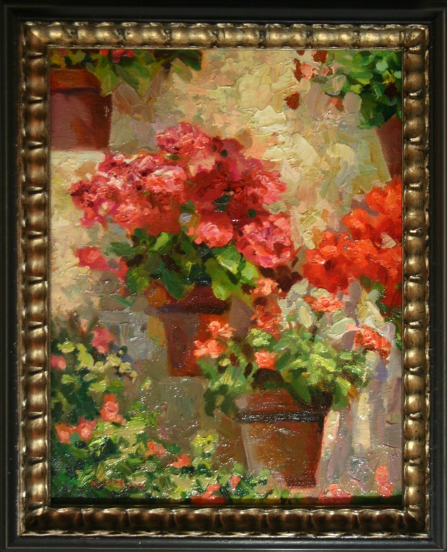 """Wall Flowers"" original fine art by K.R. McCain"