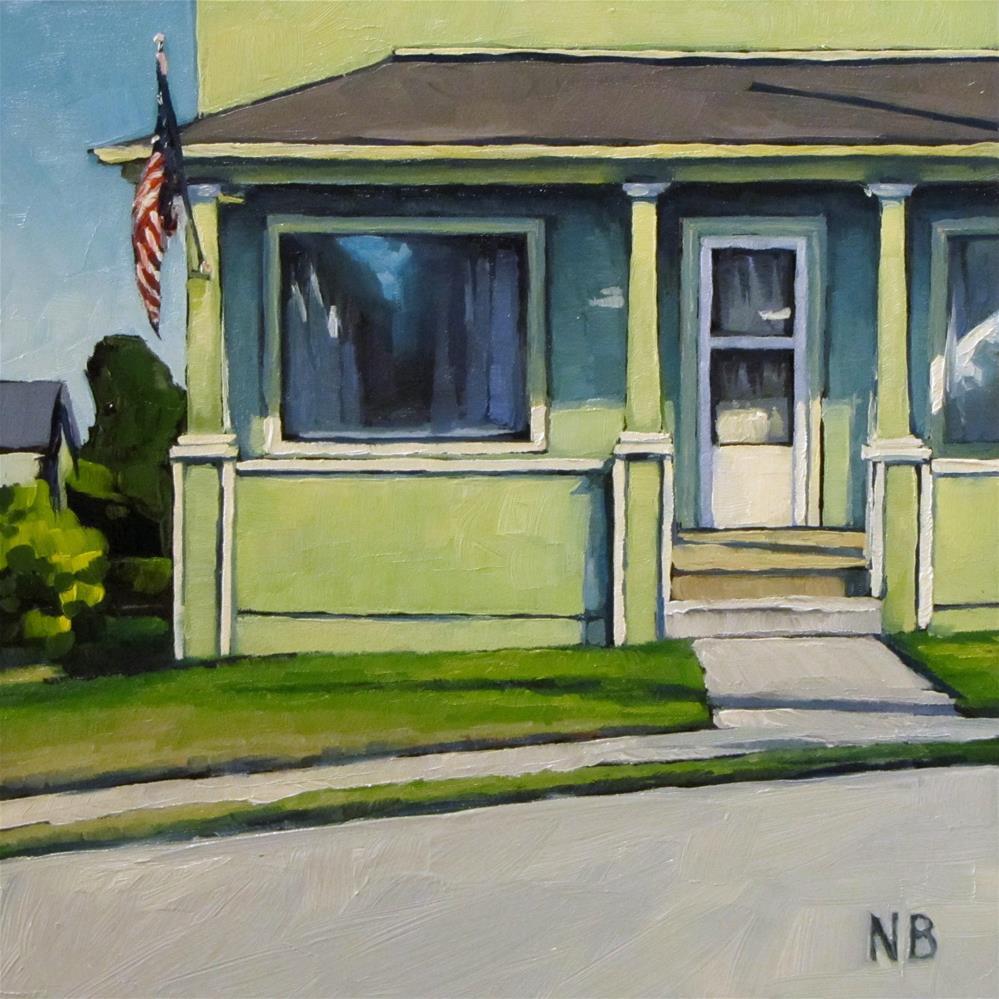 """""""Green Light"""" original fine art by Nora Bergman"""