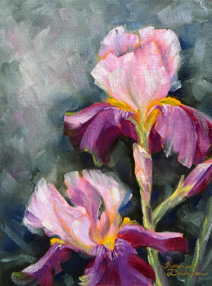 """Pink and Violet Iris"" original fine art by Tammie Dickerson"