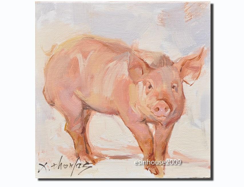"""""""boar,pig"""" original fine art by Thomas Xie"""