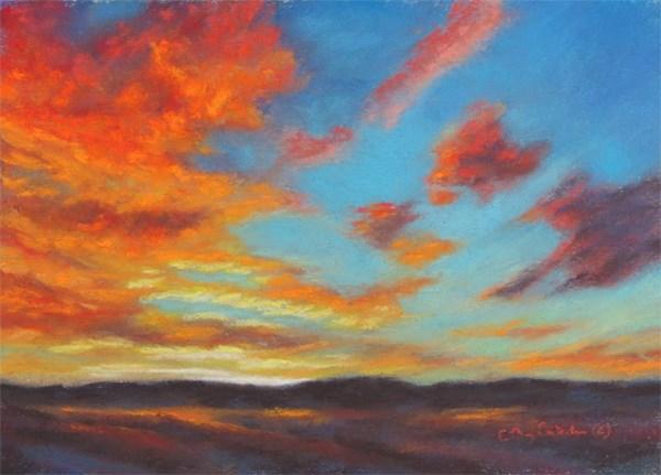 """""""Red Hot Floaters"""" original fine art by Carol Zirkle"""