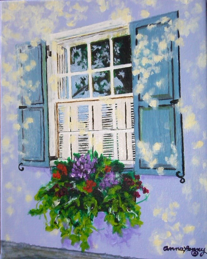 """Charleston Window"" original fine art by Anna Penny"