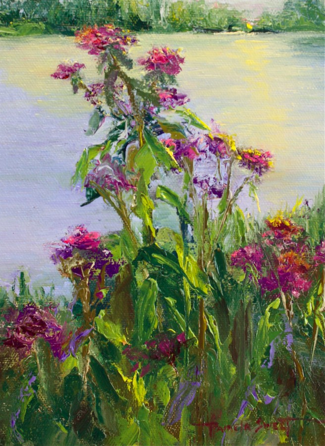 """Sunset with Purple?"" original fine art by Pamela Sweet"