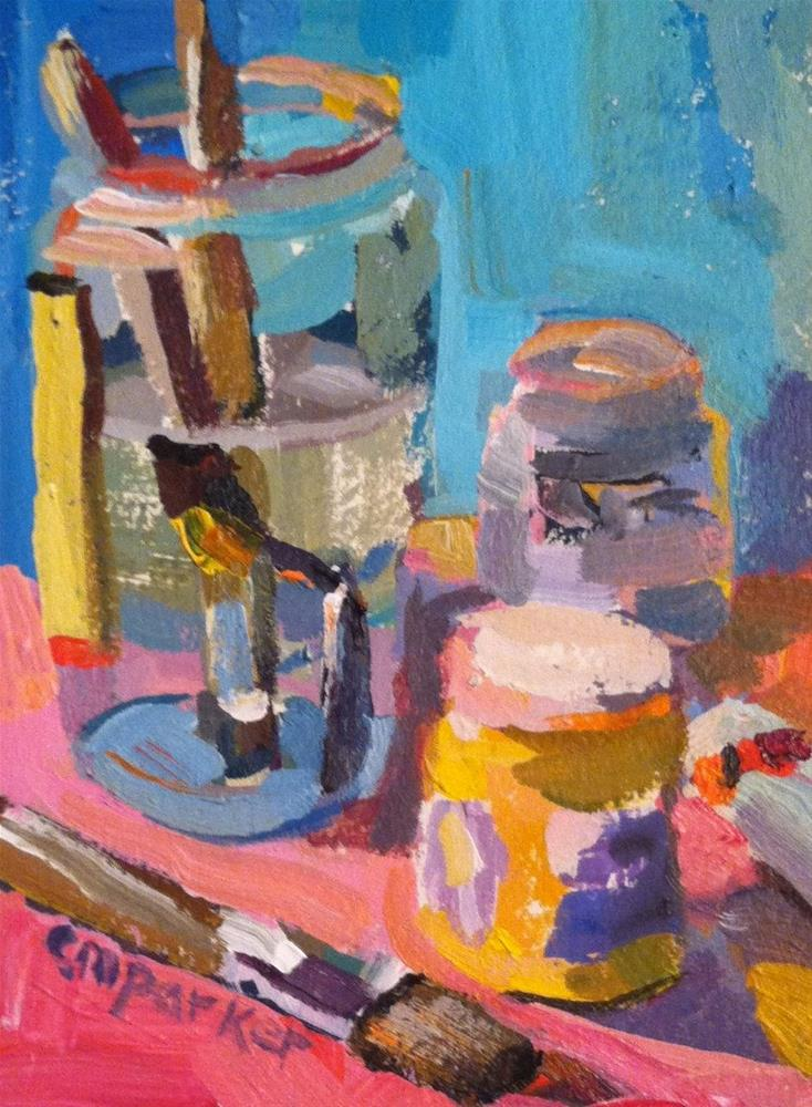 """Painter's Still Life"" original fine art by Christine Parker"