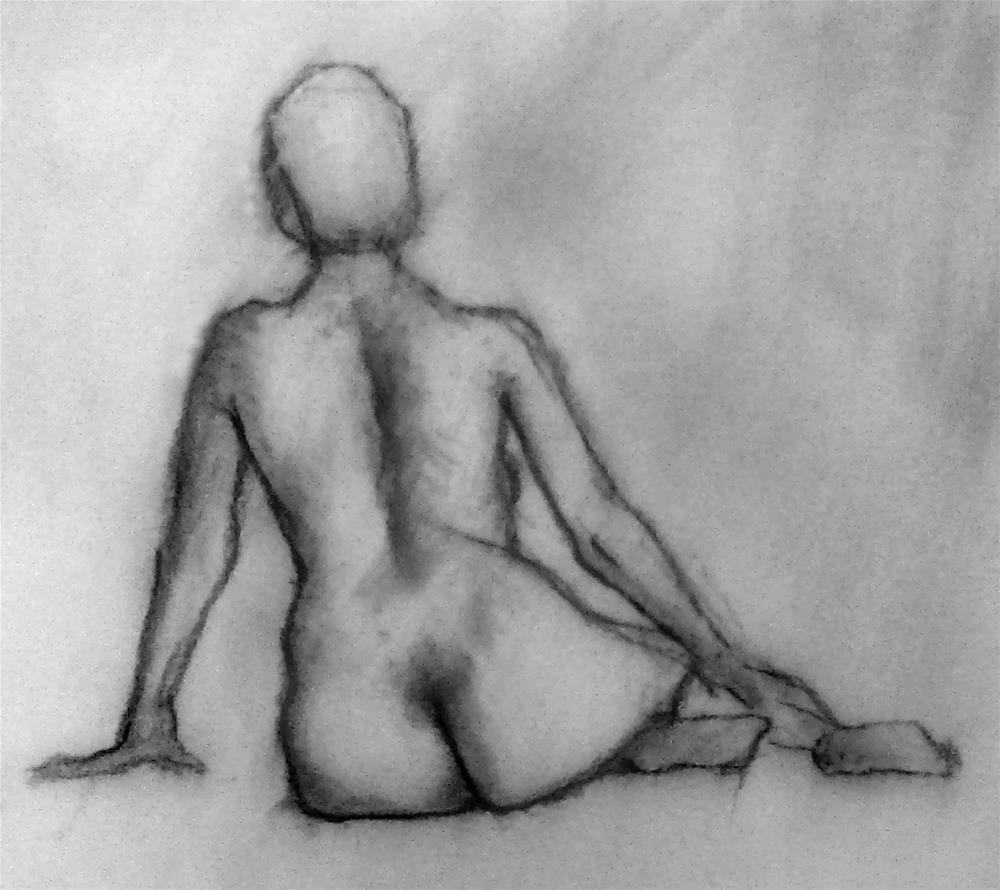 """Figure Drawing No. 1"" original fine art by Bob Kimball"