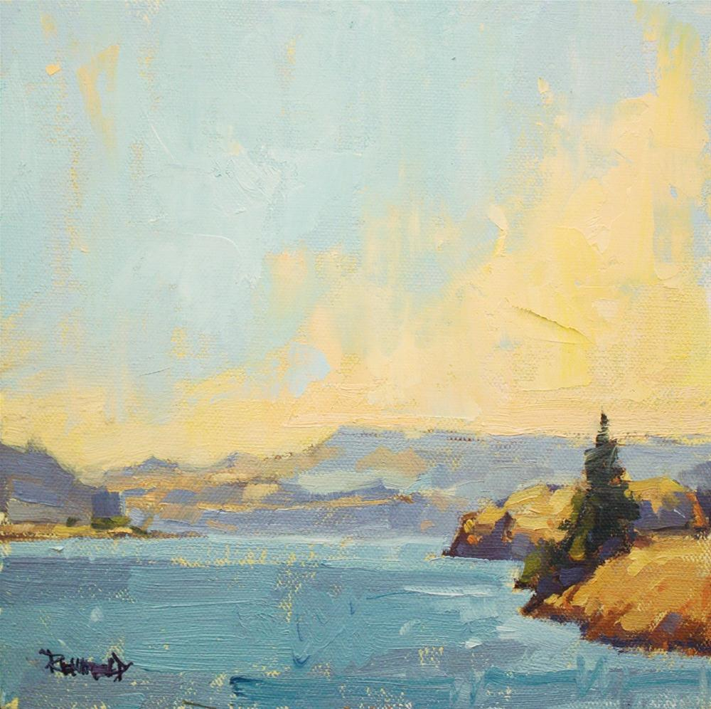 """Columbia River View"" original fine art by Cathleen Rehfeld"