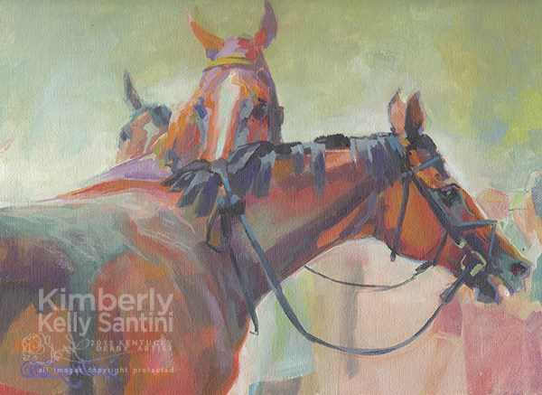 """Saratoga, August"" original fine art by Kimberly Santini"