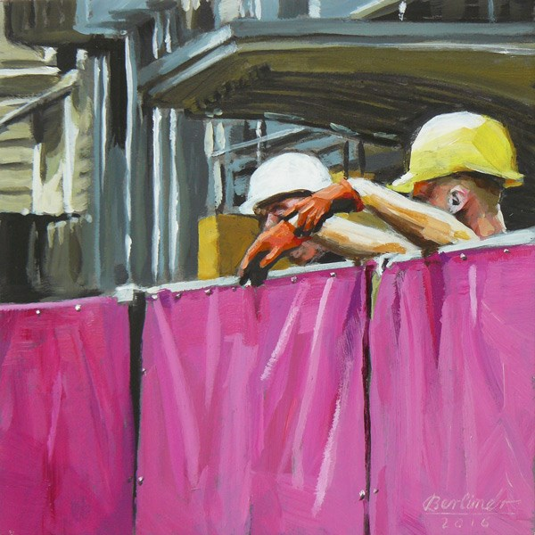 """092 Men at work"" original fine art by Anja Berliner"
