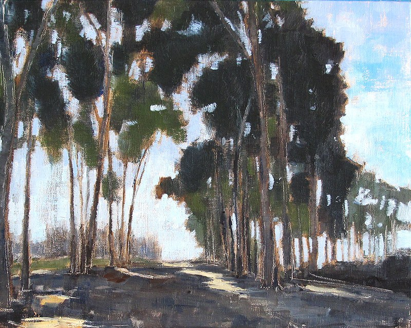 """Eucalyptus Morning"" original fine art by Kevin Inman"