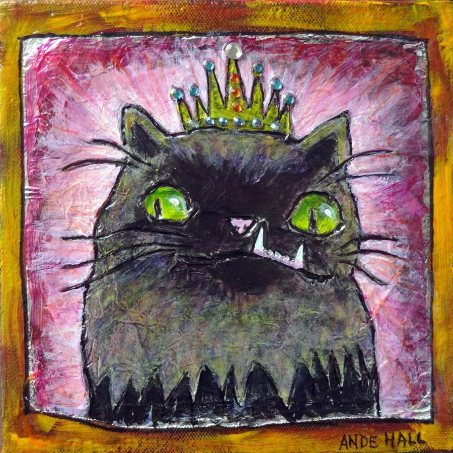 """""""Princess"""" original fine art by Ande Hall"""