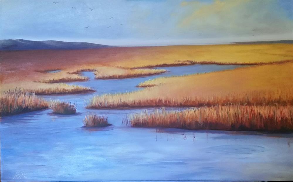 """""""Ardelle's Marsh"""" original fine art by Kim Homes"""