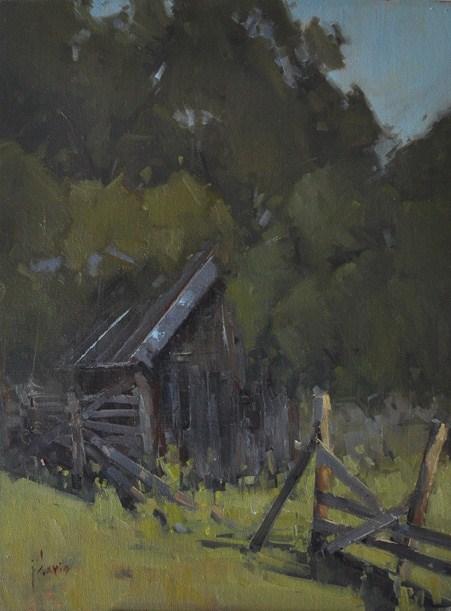 """""""In the Shadows"""" original fine art by Julie Davis"""