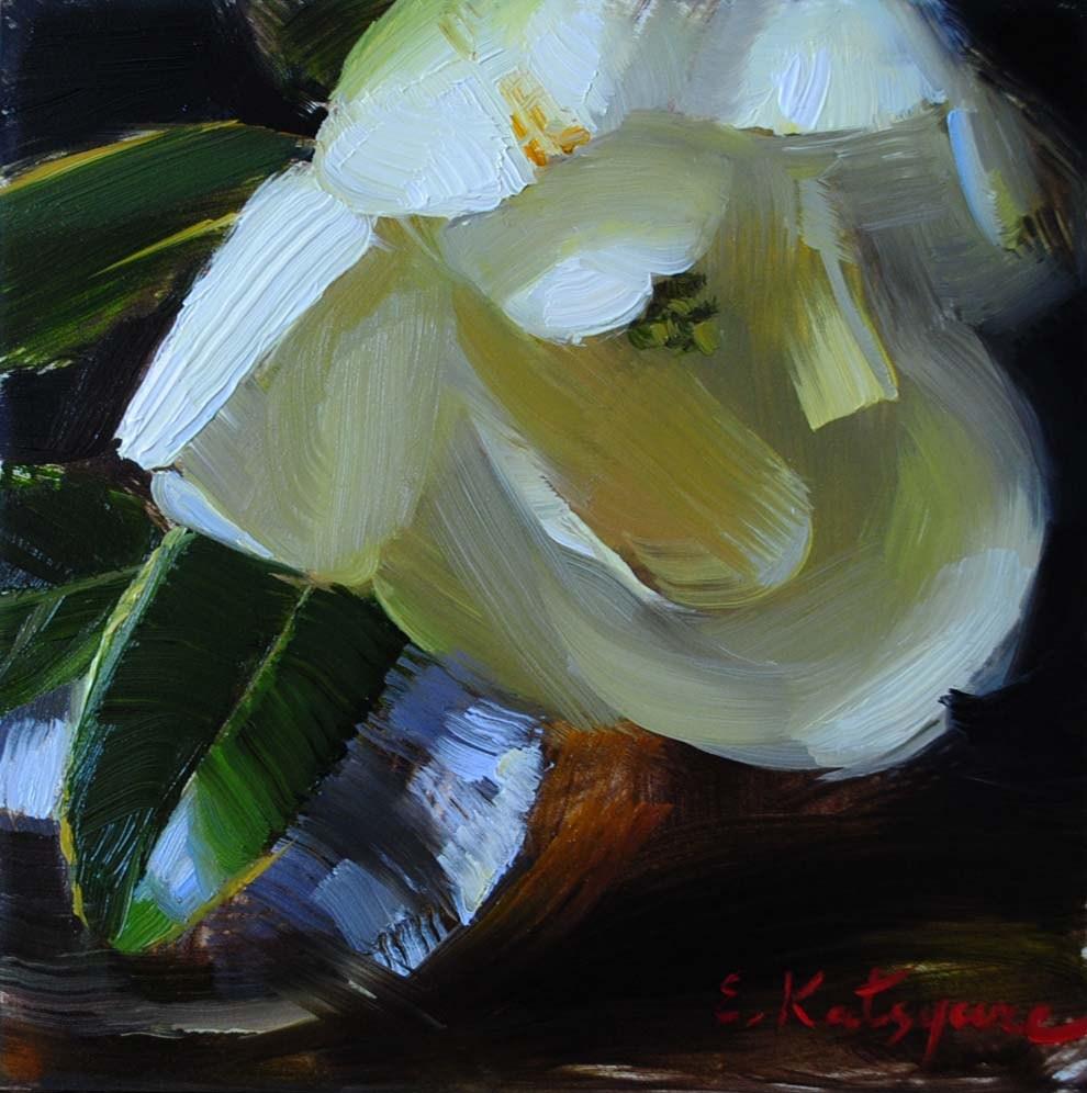 """Magnolia"" original fine art by Elena Katsyura"