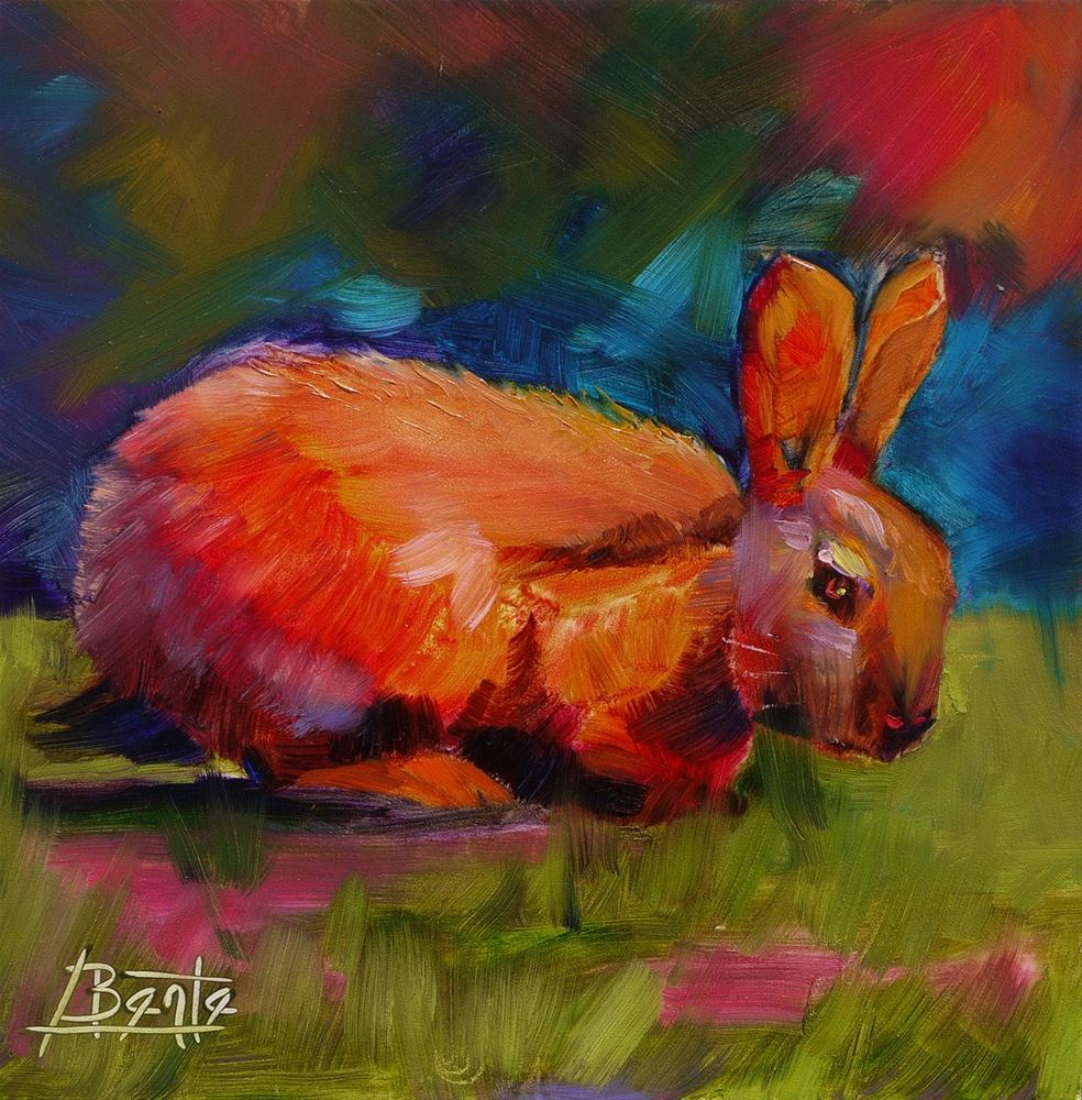 """Bunny"" original fine art by Bente Hansen"