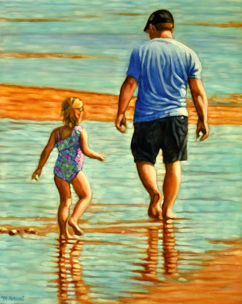 """Daddy's Girl"" original fine art by Margaret Horvat"