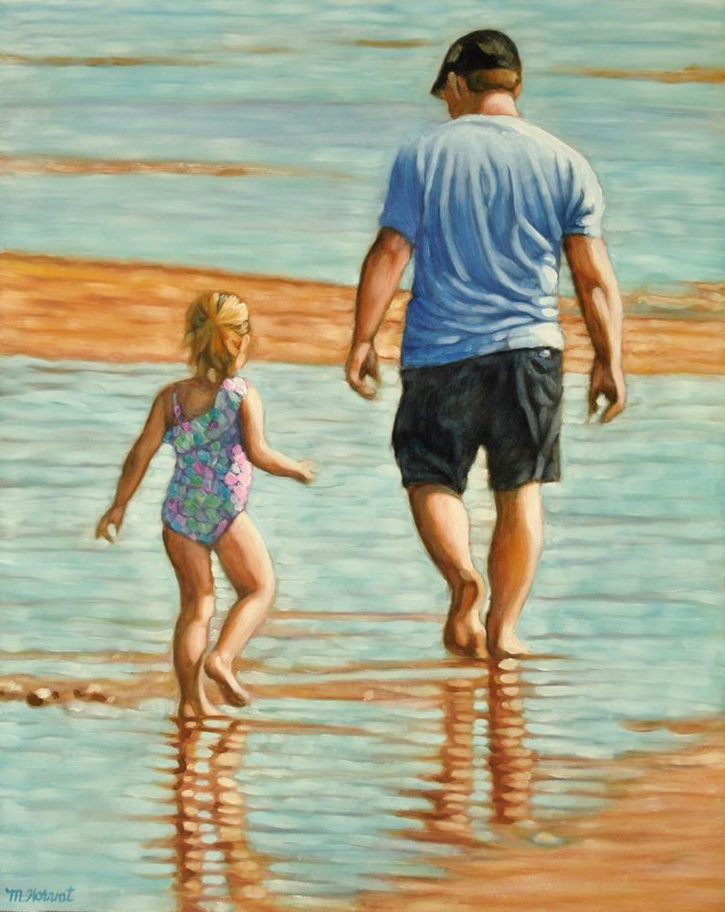 """""""Daddy's Girl"""" original fine art by Margaret Horvat"""