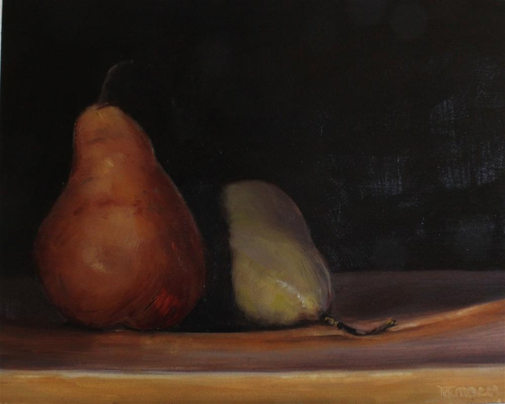 """Two Bosc Pears"" original fine art by Tamsen Armstrong"