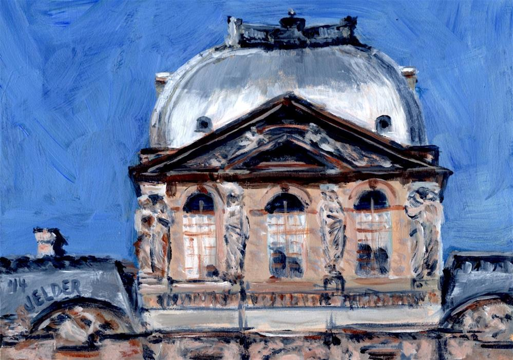 """The Louvre, Paris No. 53"" original fine art by Judith Elder"