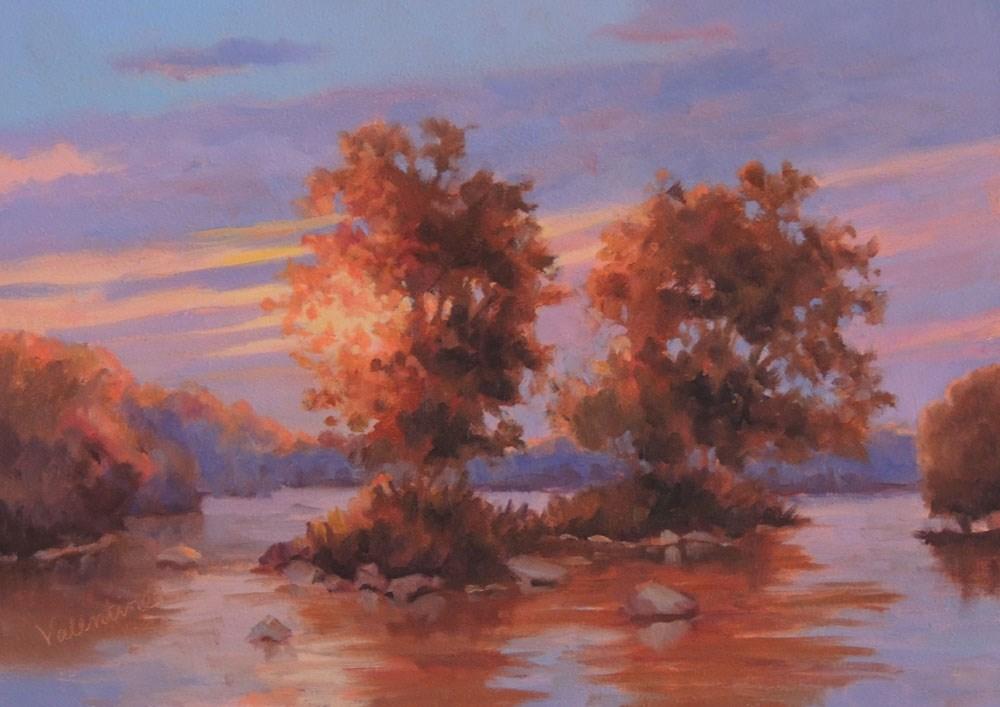 """Twilight Islands"" original fine art by Barbara Valentine"