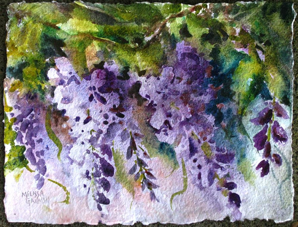 """Dressed in Purple"" original fine art by Melissa Gannon"