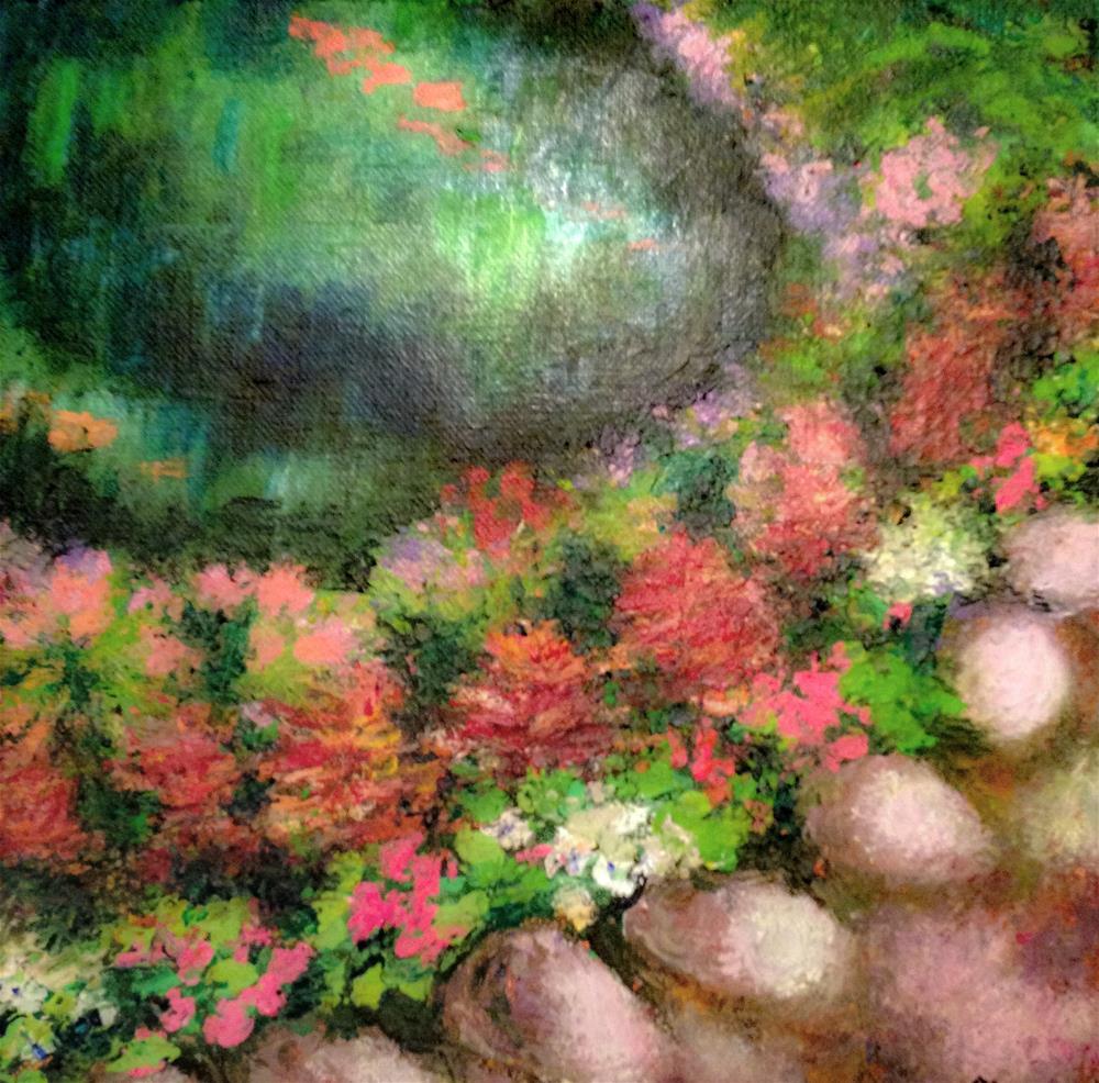 """""""Mussinger Gardens in Summer"""" original fine art by Giovanni Antunez"""