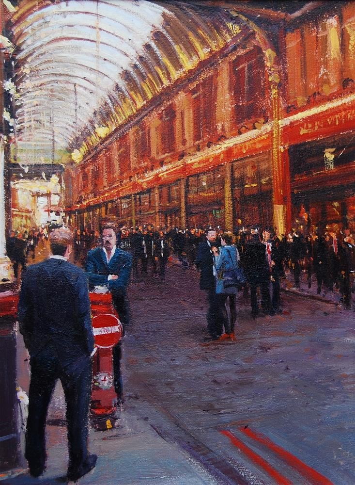 """Evening Light, Leadenhall Market"" original fine art by Adebanji Alade"