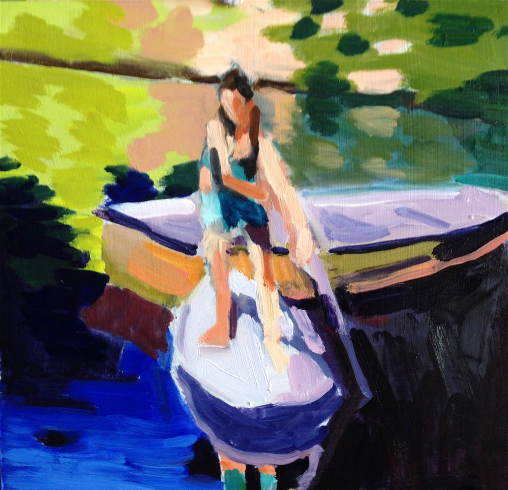 """""""Messing About In Boats"""" original fine art by Pamela Hoffmeister"""