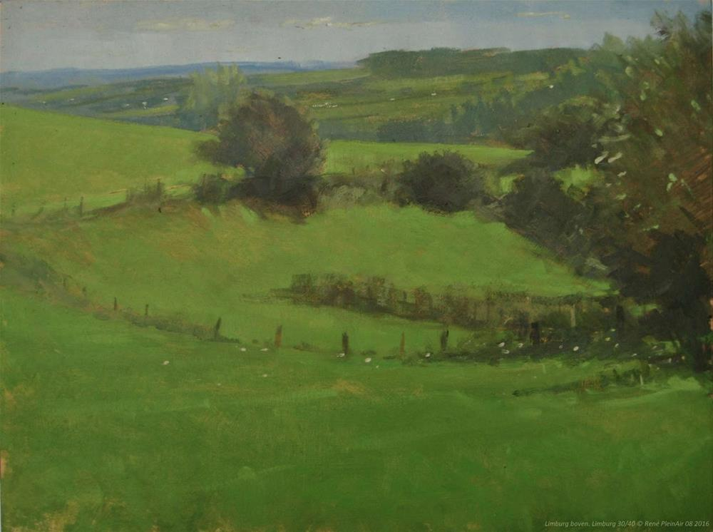 """Limburg boven! Limburg, The Netherlands"" original fine art by René PleinAir"