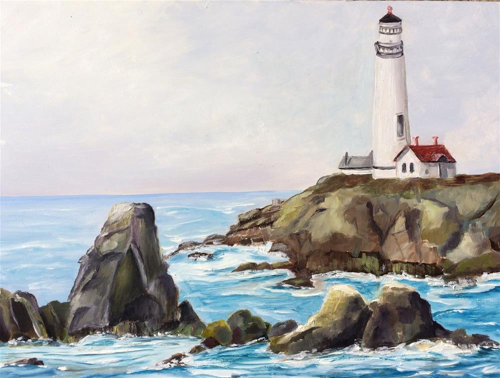 """Pigeon Point Lighthouse"" original fine art by Kim Clay"