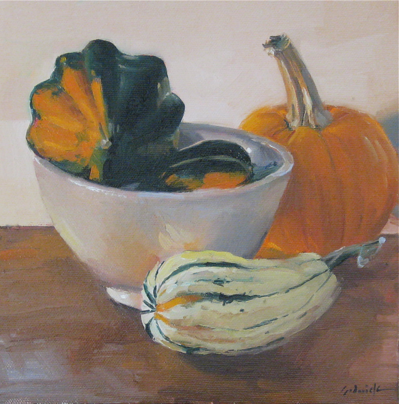 """Squash in a Bowl"" original fine art by Sarah Sedwick"