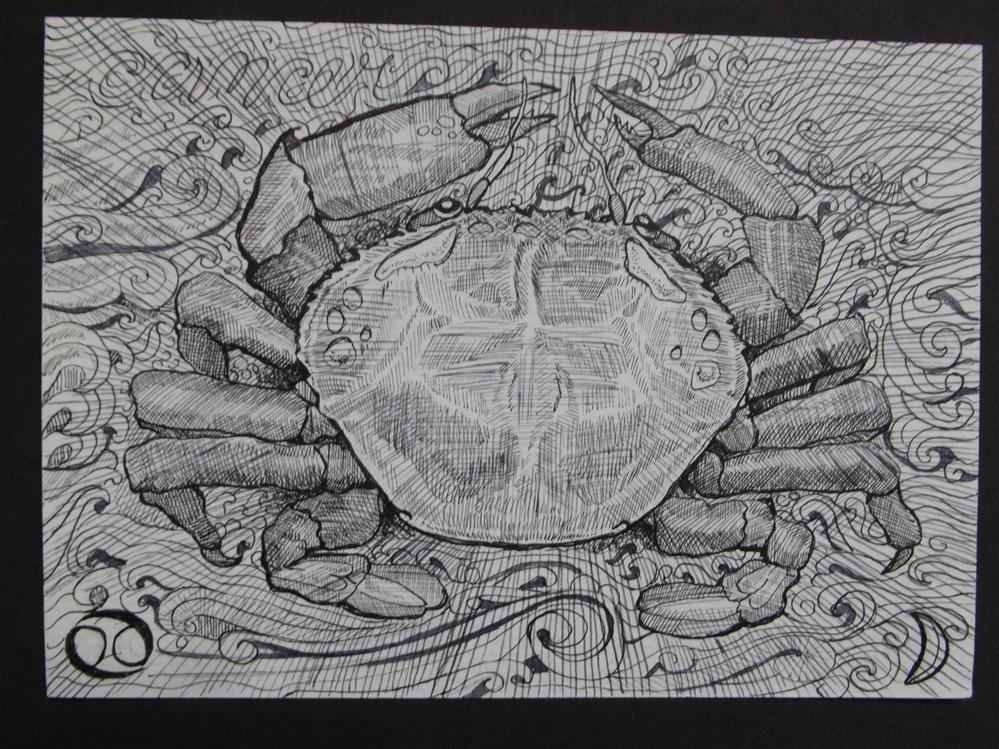 """Cancer"" original fine art by wanda sigafus"