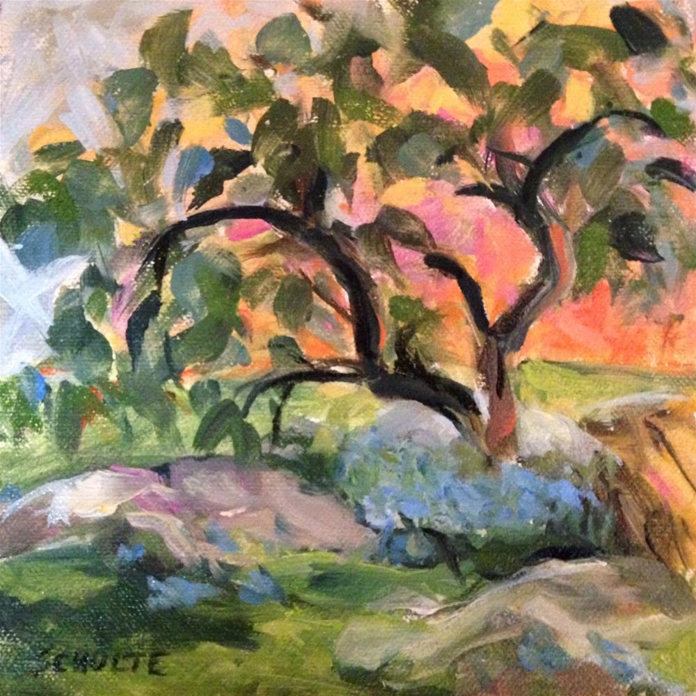 """""""Early Blues"""" original fine art by Lynne Schulte"""