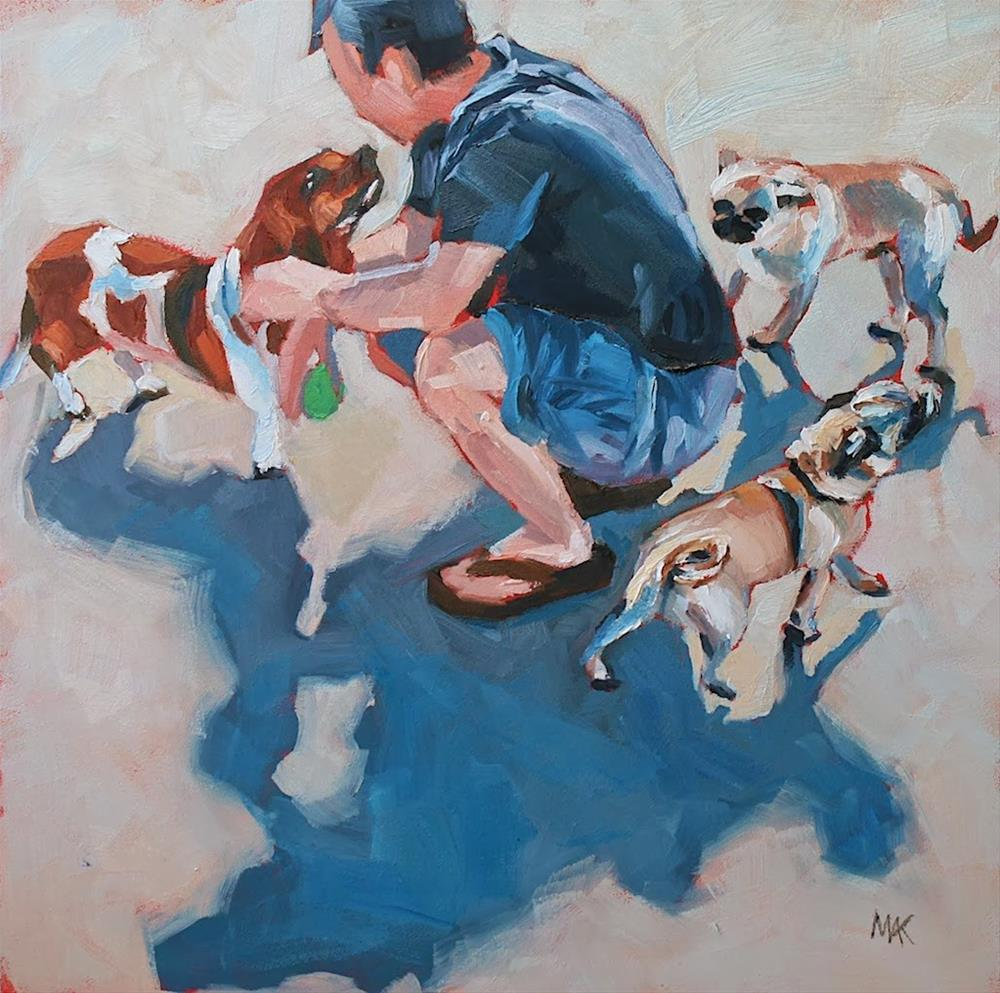 """Three Dog Site"" original fine art by Mary Anne Cary"