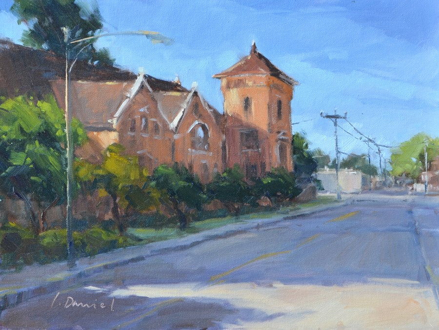 """Morning Shadows - En Plein Air Texas!"" original fine art by Laurel Daniel"