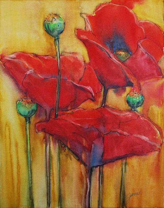 """Poppies 3"" original fine art by Jani Freimann"