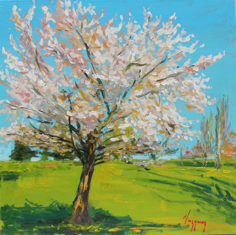 """Cherry blossom"" original fine art by Marco Vazquez"