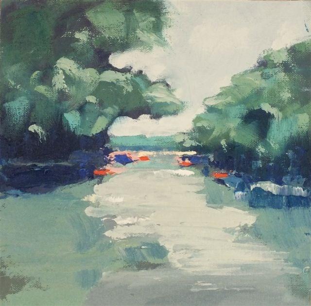 """Landscape 63"" original fine art by Ewa Kunicka"
