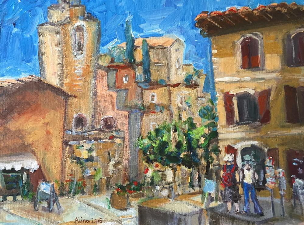 """Scene in Roussillon"" original fine art by Alina Vidulescu"