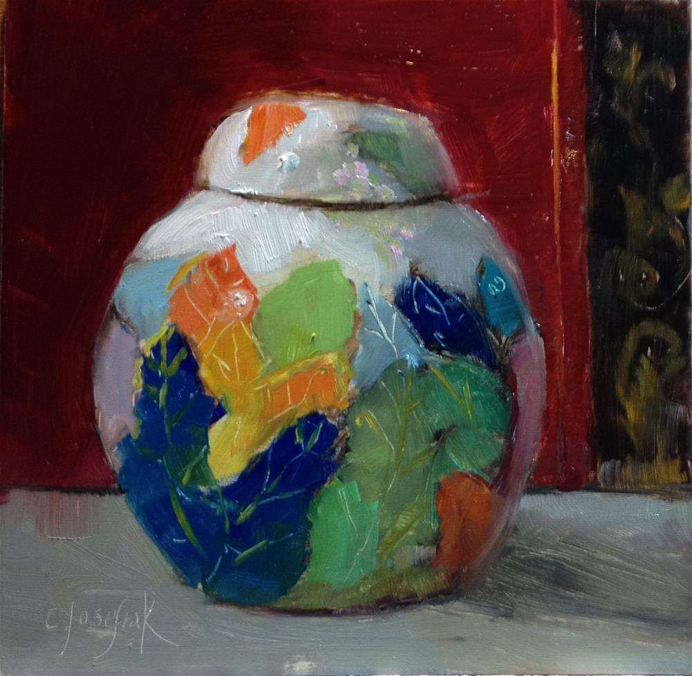 """Ginger Jar"" original fine art by Carol Josefiak"