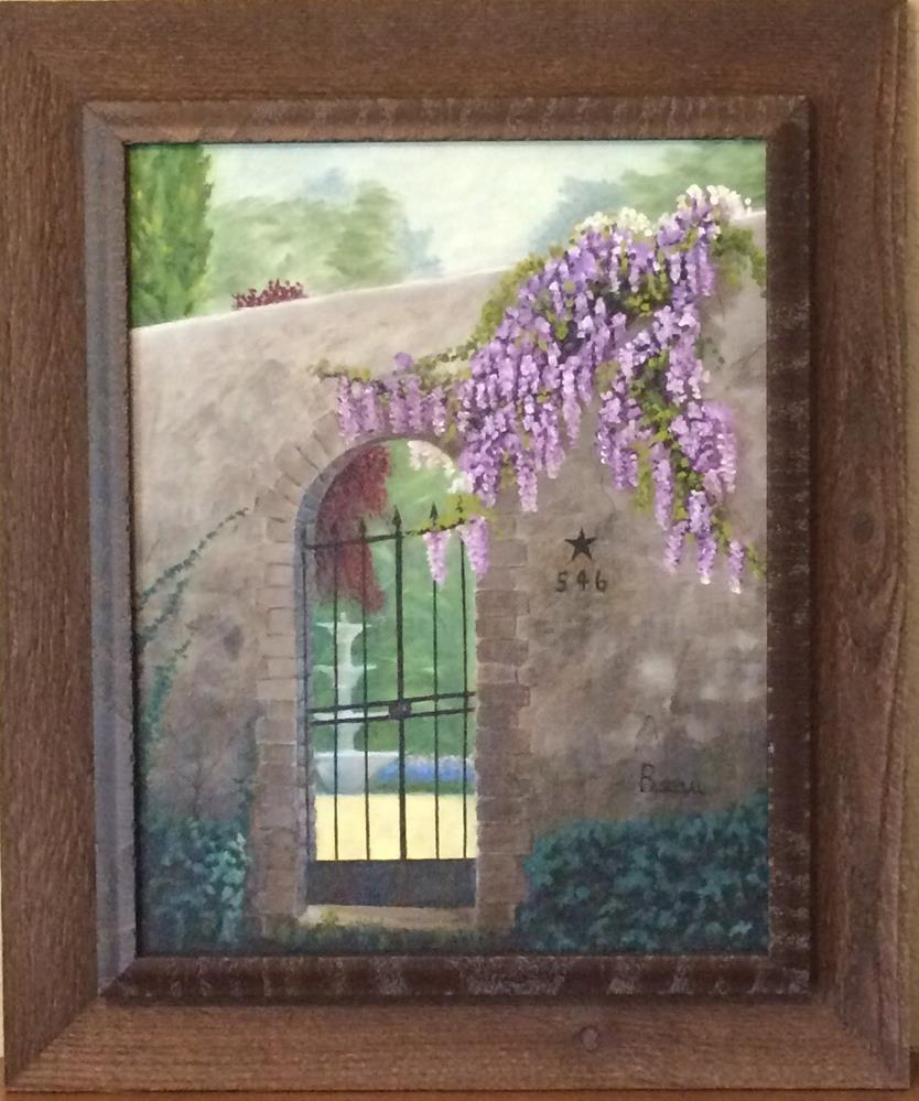 """The Courtyard Gate"" original fine art by Beau Crump"