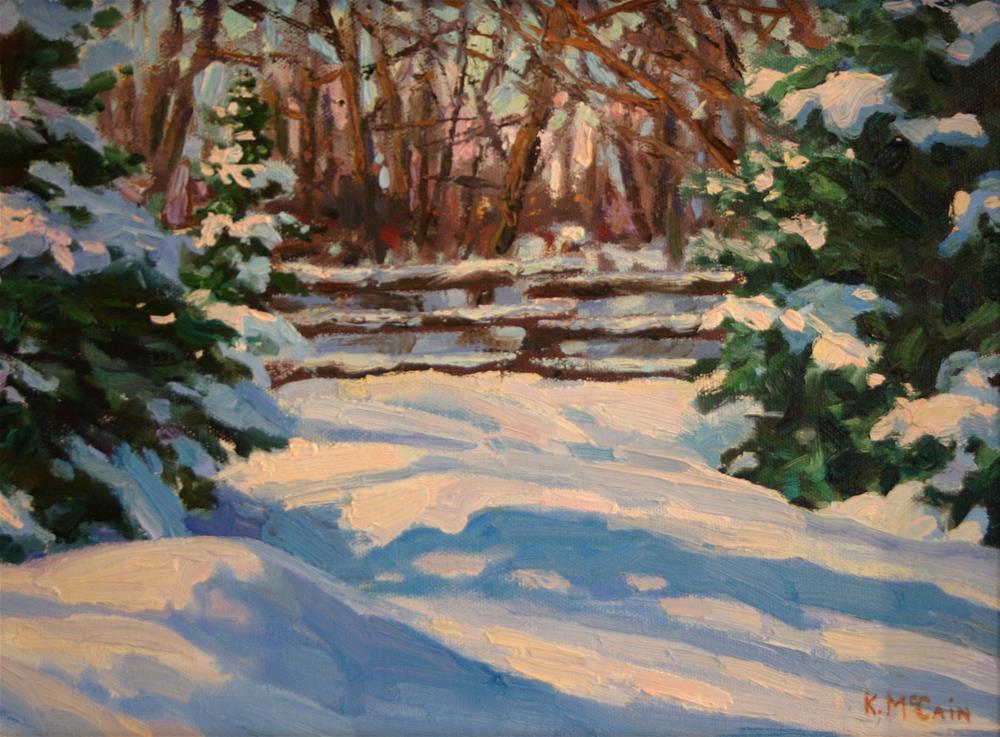 """Drifts of Winter"" original fine art by K.R. McCain"